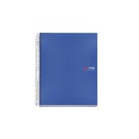 Cuaderno Note book-8 con 200 hojas A5 polipropileno azul