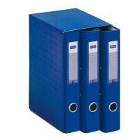 Modulo de 3 carpetas Lyreco A4 2 anillas lomo de 40mm azul