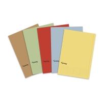 Pack de 50 subcarpetas LYRECO Budget Folio 170g2 rojo