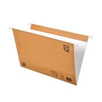 Pack de 25 carpetas colgantes con visorgio Folio kraft