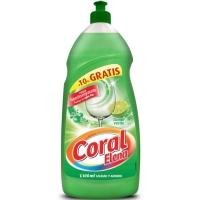 Lavavajillas liquido concentrado CORAL de 1,25L