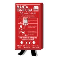 Manta ignífuga MARCA M1-1 de fibra de vidrio
