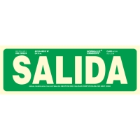 Placa de SALIDA NORMALUZ de PVC fotoluminiscente 297 x 105 mm