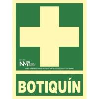 Placa de BOTIQUIN NORMALUZ  de PVC fotoluminiscente 297 x 224 mm