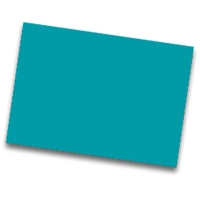 Pack de 25 cartulinas FABRISA 50x65 170g/m2 color turquesa