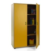 Mueble medio armario MOBEDUC puertas amarillas