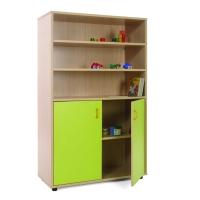 Mueble medio armario y estanterías MOBEDUC puertas verdes