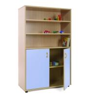 Mueble medio armario y estanterías MOBEDUC puertas azules