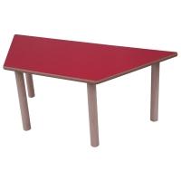 Mesa trapecio MOBEDUC de 53 cm color rojo