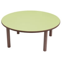 Mesa redonda MOBEDUC de Ø100 53 cm MOBEDUC color verde