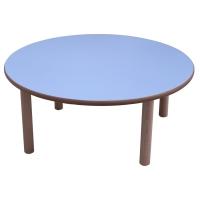 Mesa redonda MOBEDUC de Ø100 53 cm MOBEDUC color azul