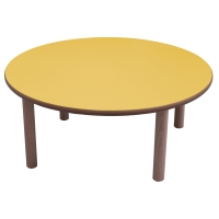 Mesa redonda MOBEDUC de Ø100 53 cm MOBEDUC color amarillo