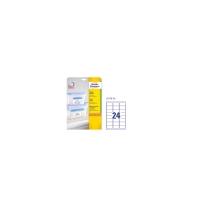 Caja de 600 etiquetas para congelador AVERY L7970-25 63,5X33,9mm blancas