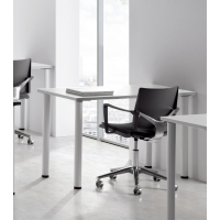 Mesa polivalente de melamina color blanco/blanco dimensiones 80 x 60 x 75 cm