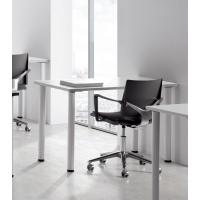 Mesa polivalente de melamina color blanco/blanco dimensiones 120 x 60 x 75 cm