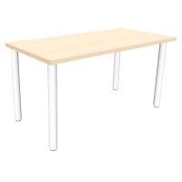 Mesa polivalente de melamina color roble/blanco dimensiones 80 x 60 x 75 cm