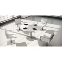 Mesa de reunión circular com pie de metal color blanco/blanco Diam: 120 cm