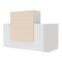 Mesa com mostrador para recepción color roble/blanco