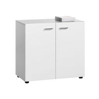 Armario com puertas y estanterías color blanco/blanco 75 x 40 x 80 cm