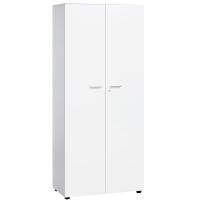 Armario com puertas y estanterías color blanco/blanco 181 x 40 x 80 cm
