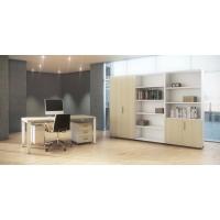 Armario com puertas y estanterías color roble/blanco 181 x 40 x 80 cm