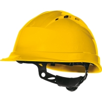 Casco de seguridad DELTAPLUS Quartz Up IV amarillo ventilado