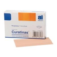 Caja de 10 Curatinas® BIMEDICA de plástico color piel de 60 mm x 1m