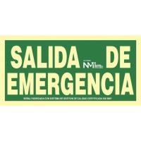 Placa de SALIDA DE EMERGENCIA NORMALUZ de PVC fotoluminiscente 150 x 300 mm
