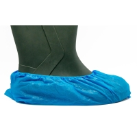 Caja de 100 cubrezapatos desechables BIMEDICA polietileno azul