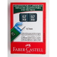 Tubo de 12 minas FABER CASTELL 0.7mm HB