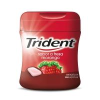 Bote de 61 chicles grageas TRIDENT sin azúcar sabor fresa
