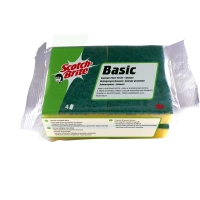 Pack de 4 estropajos Scotch Brite salvauñas Basic 45x47x72mm