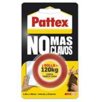 Cinta de montaje permanente doble cara PATTEX NO MAS CLAVOS 19mm x 1,5m