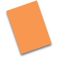 Pack de 50 cartulinas FABRISA A4 170g/m2 color naranja