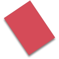 Pack de 50 cartulinas FABRISA A4 170g/m2 color rojo