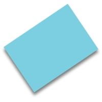 Pack de 50 cartulinas FABRISA A4 170g/m2 color turquesa