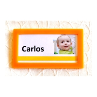 Pack de 4 marcos adhesivos TARIFOLD 80 x 45mm color amarillo