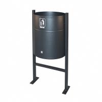 Papelera exterior grafito P65 CILINDRO Dimensiones: 42x33x90cm