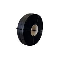 Rollo de fleje manual de polipropileno negro 13mm x 1200m