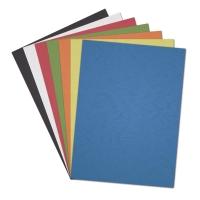 Pack de 100 cubiertas tipo piel para encuadernar negro A4 GRAFOPLAS
