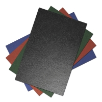 Pack de 50 cubiertas para encuadernar gofradas negro A4 GRAFOPLAS