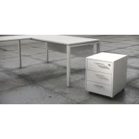 Buck bilaminado de 3 cajones en acabado Luxe color blanco 460x550x600 mm