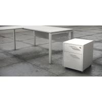 Buck bilaminado cajón más carpetero acabado Luxe color blanco 460x550x600