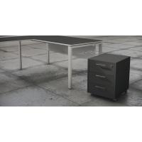 Buck bilaminado cajón más carpetero acabado Luxe color antracita 460x550x600
