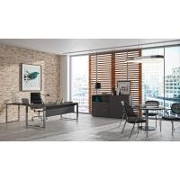 Mesa Atlantic Luxe estructura y pies metálicos color blanco/cromado  180x90x74