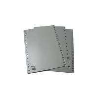 Abecedario A-Z en polipropileno gris 16 taladros A4 GRAFOPLAS