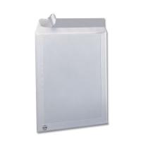 Caja de 125 bolsas con respaldo de cartón formato C4 223x324mm kraft blanco