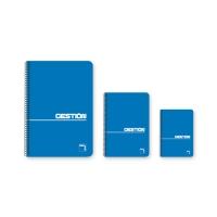 Block gestión Pacsa 80 hojas con espiral de color azul formato cuarto