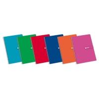Cuaderno Enri espiral tapa dura folio 80 hojas 4x4 colores surtidos