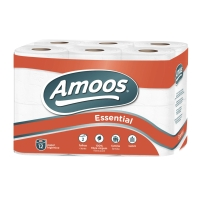 PK12 AMS TOILET PAPER ROLL 2LAY 20M WH